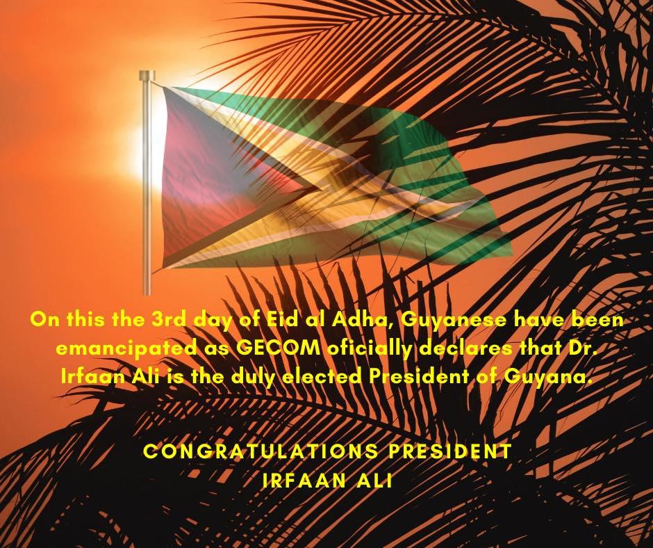 Congratulations, President Ali