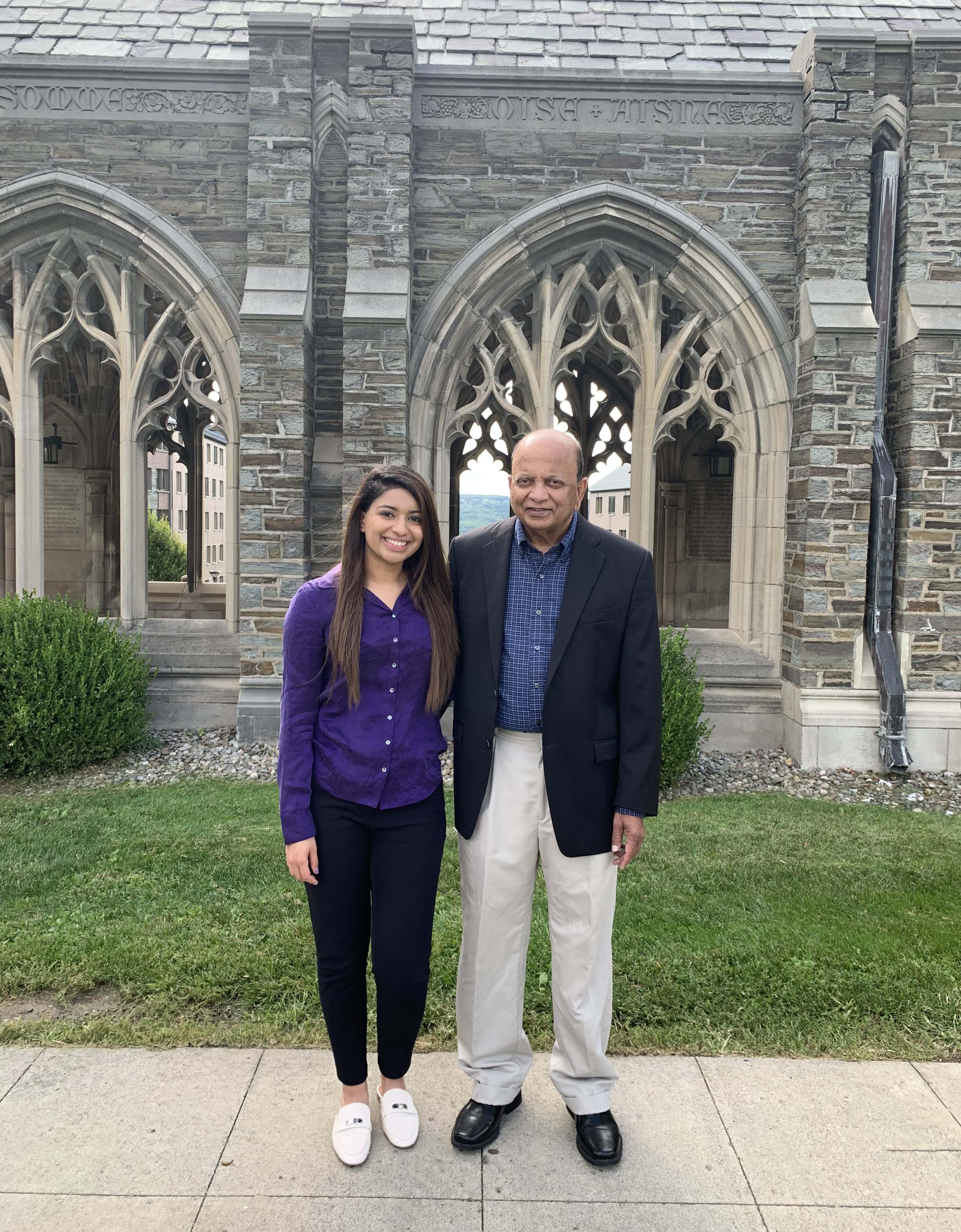 Dr. AK Jagnandan and daughter Natasha