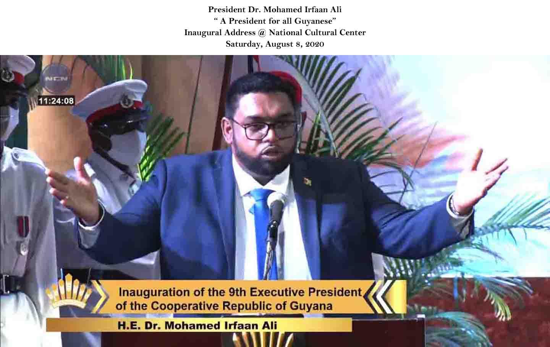 HE President Irfaan Ali