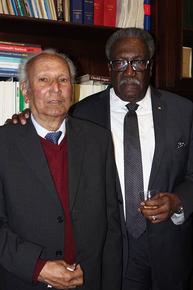Reginald Debah and Clive Lloyd